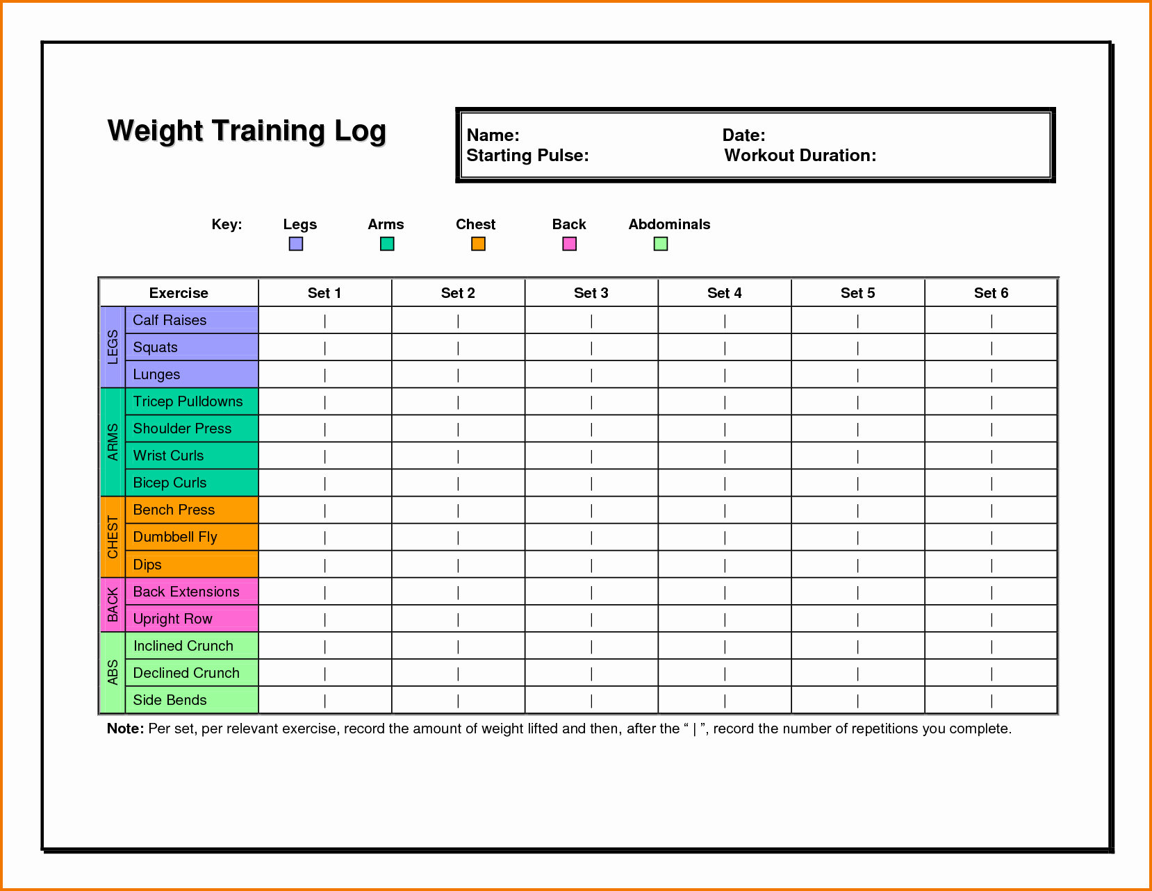 Workout Spreadsheet Excel Template Inspirational 5 Workout Log Excel