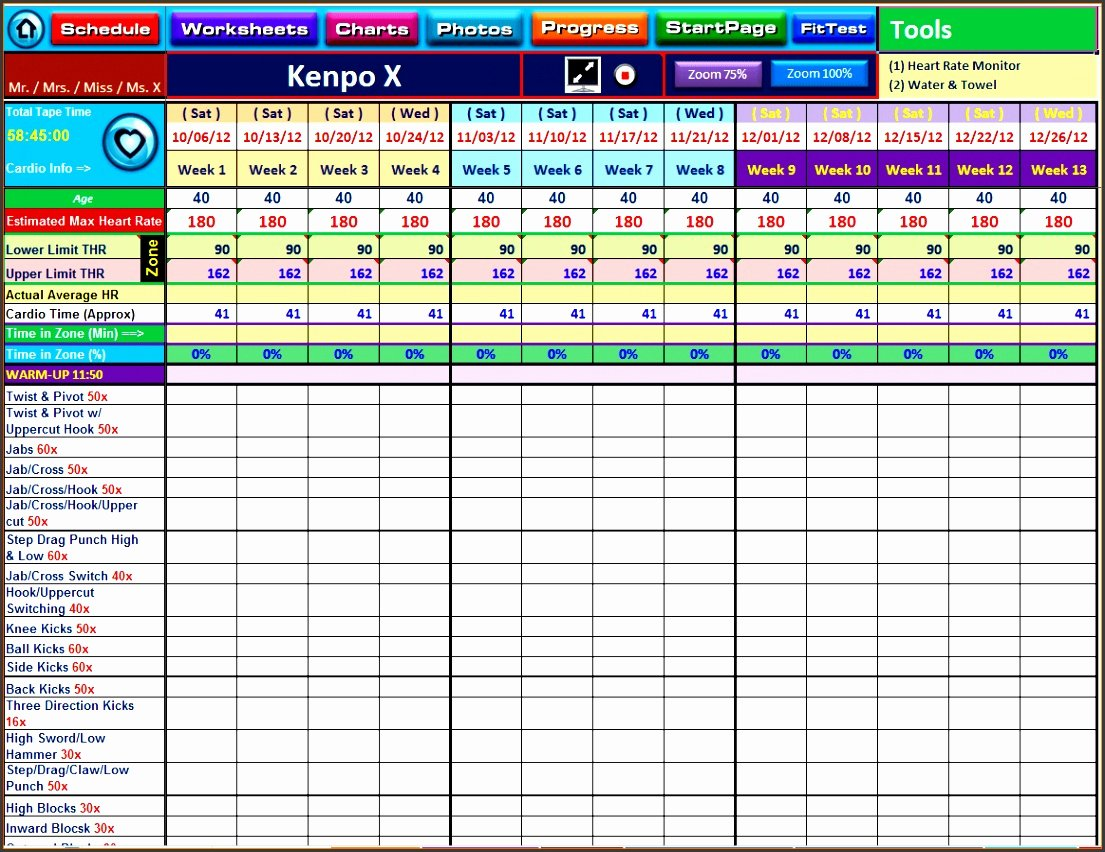 Workout Spreadsheet Excel Template Luxury 10 Excel Workout Template Sampletemplatess