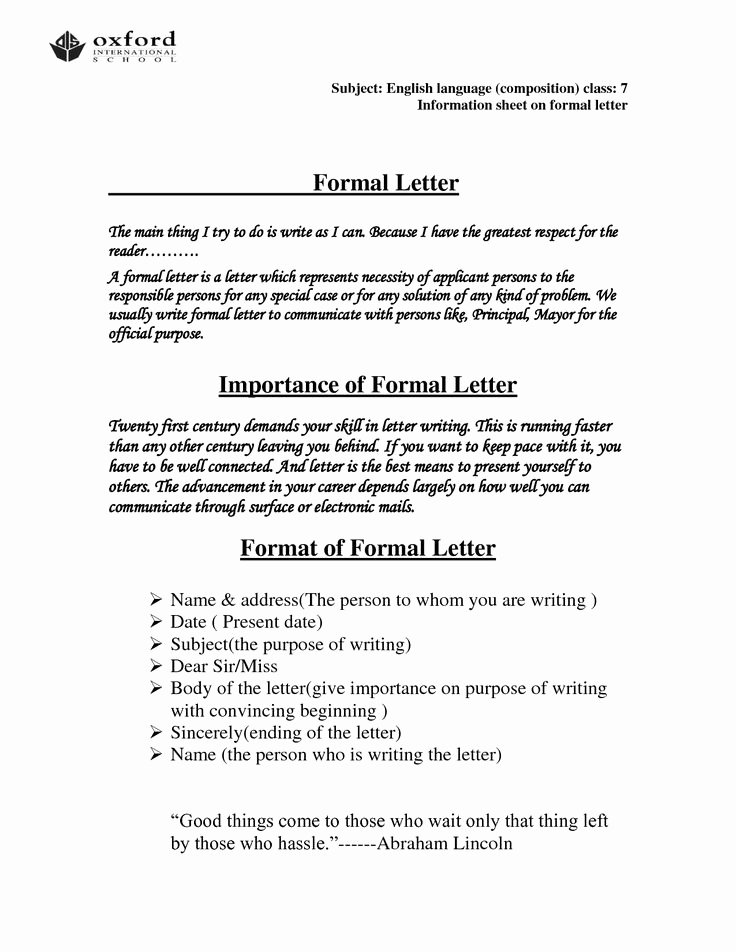 Writing A Business Letter Template Elegant How to Write A Good Business Letter