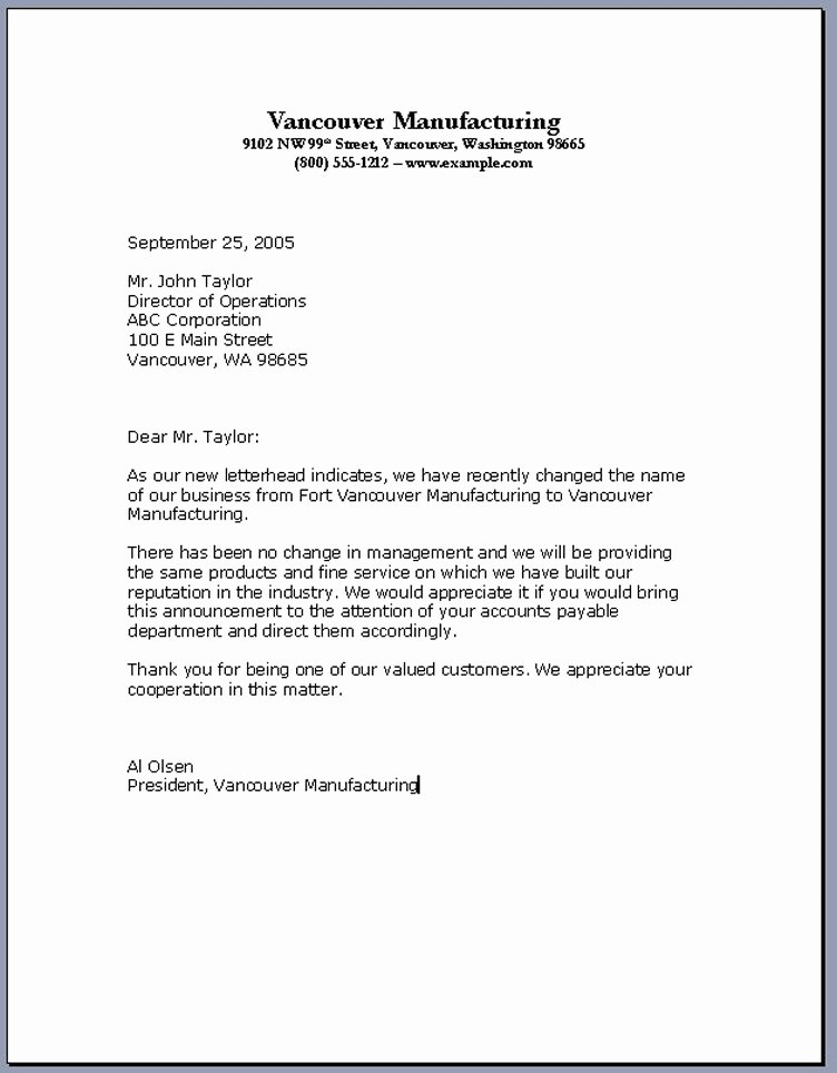 Writing A Business Letter Template Fresh Business Letter format – Download Pdf