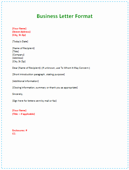 Writing A Business Letter Template Inspirational 6 Samples Of Business Letter format to Write A Perfect Letter