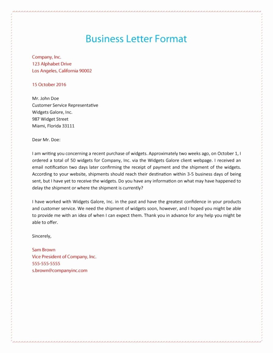 Writing A Business Letter Template Lovely How to Write A Business Letter format Template