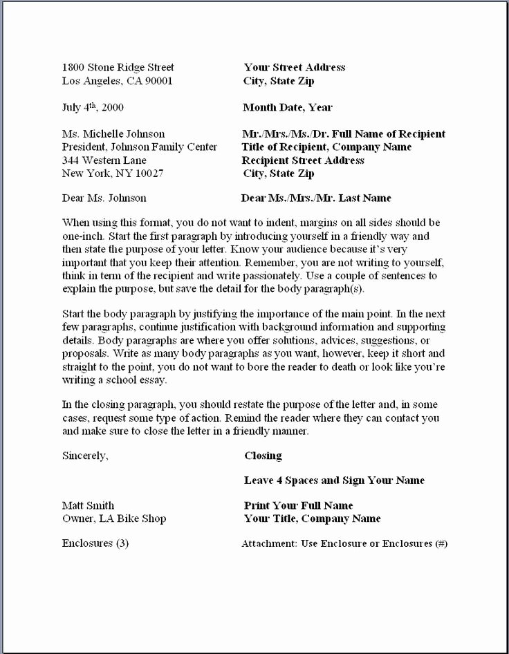 Writing A Business Letter Template Luxury 1000 Images About Business Letters format On Pinterest