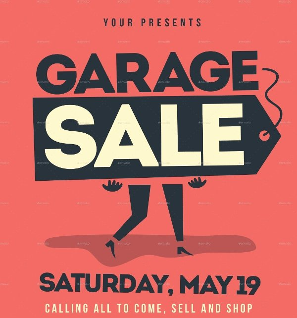 Yard Sale Flyer Template Awesome 27 Yard Sale Flyer Templates