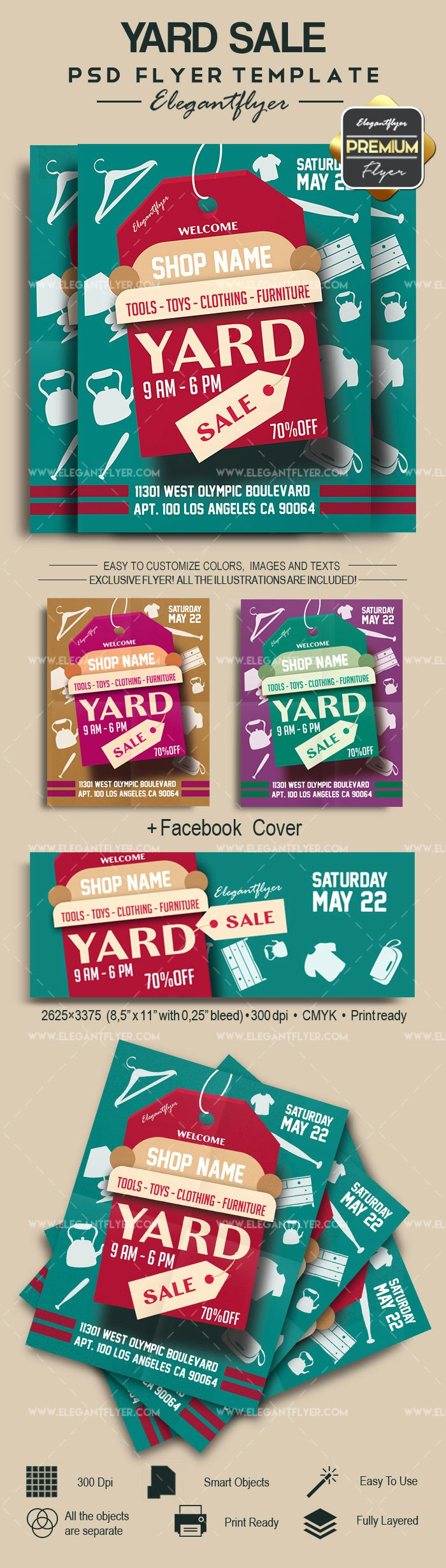 Yard Sale Flyer Template Beautiful Yard Sale – Flyer Psd Template – by Elegantflyer