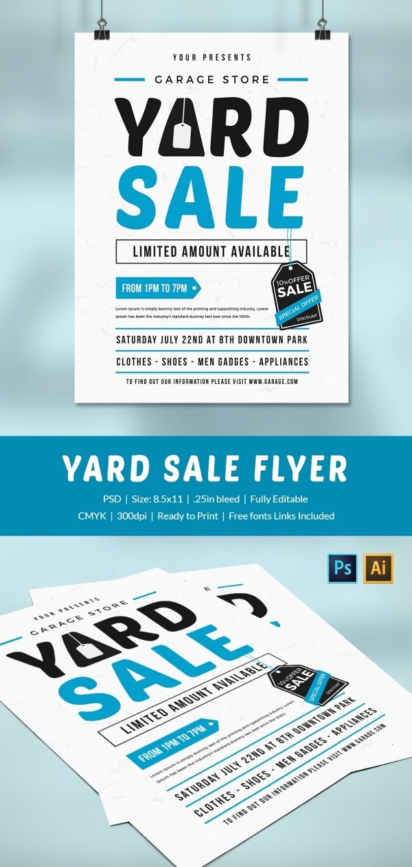 Yard Sale Flyer Template Best Of 14 Best Yard Sale Flyer Templates & Psd Designs