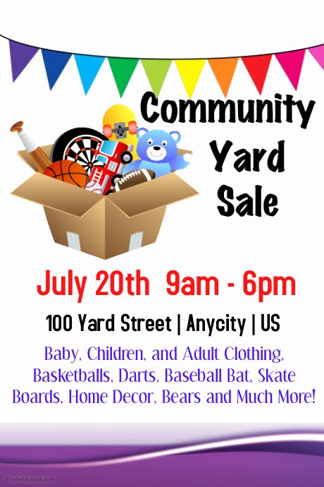 Yard Sale Flyer Template Best Of Munity Yes Sale Template