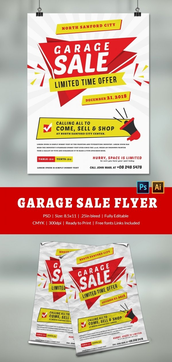 Yard Sale Flyer Template Elegant 14 Best Yard Sale Flyer Templates & Psd Designs