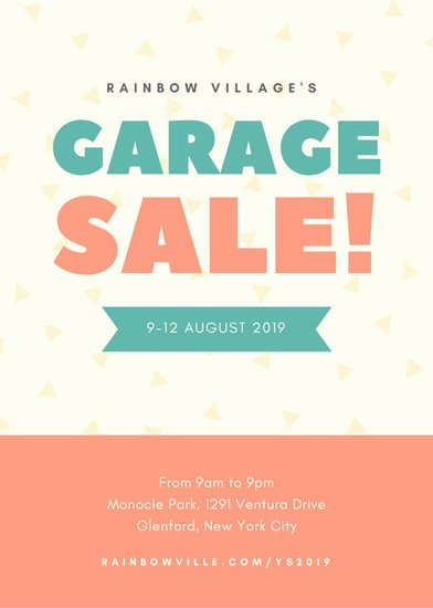 Yard Sale Flyer Template Elegant Yard Sale Flyer Templates Canva