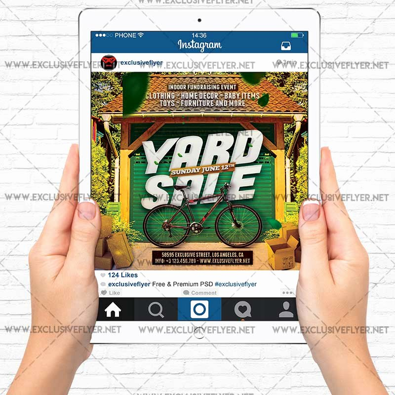Yard Sale Flyer Template Elegant Yard Sale – Premium A5 Flyer Template