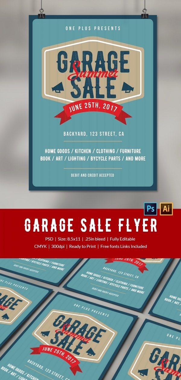Yard Sale Flyer Template Fresh 14 Best Yard Sale Flyer Templates & Psd Designs