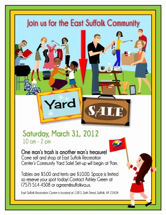 Yard Sale Flyer Template Fresh 14 Garage Sale Flyers 5