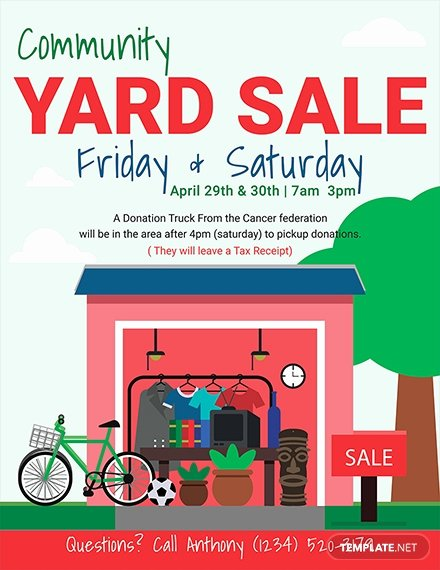 Yard Sale Flyer Template Fresh 17 Free Sales Flyer Templates