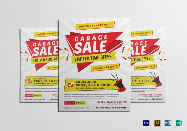 Yard Sale Flyer Template Inspirational 27 Yard Sale Flyer Templates