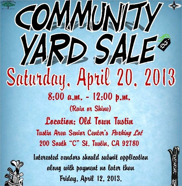 Yard Sale Flyer Template Lovely 27 Yard Sale Flyer Templates