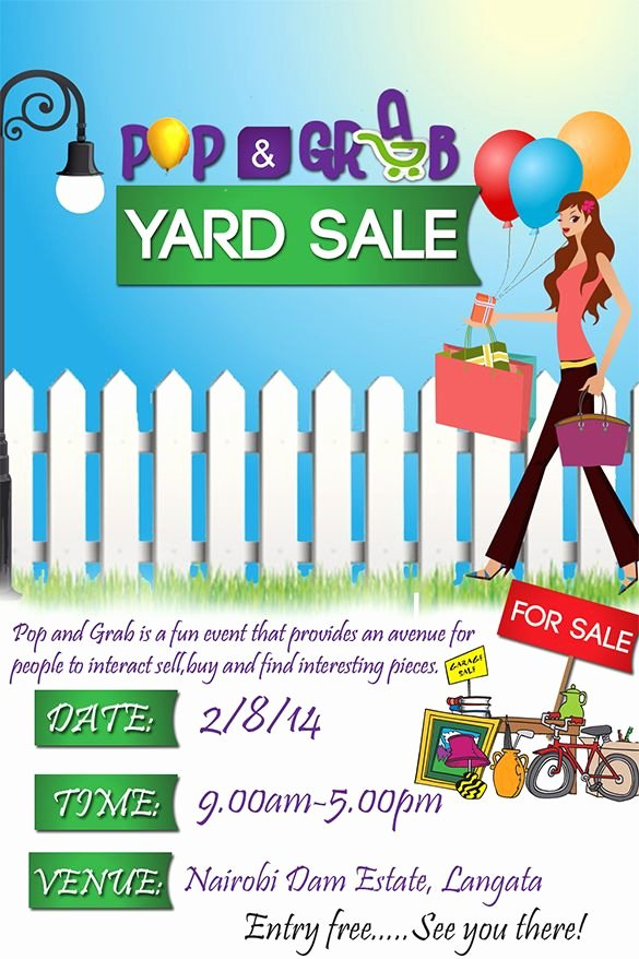 Yard Sale Flyer Template Lovely Planning something New and Profitable In Your Ward Check