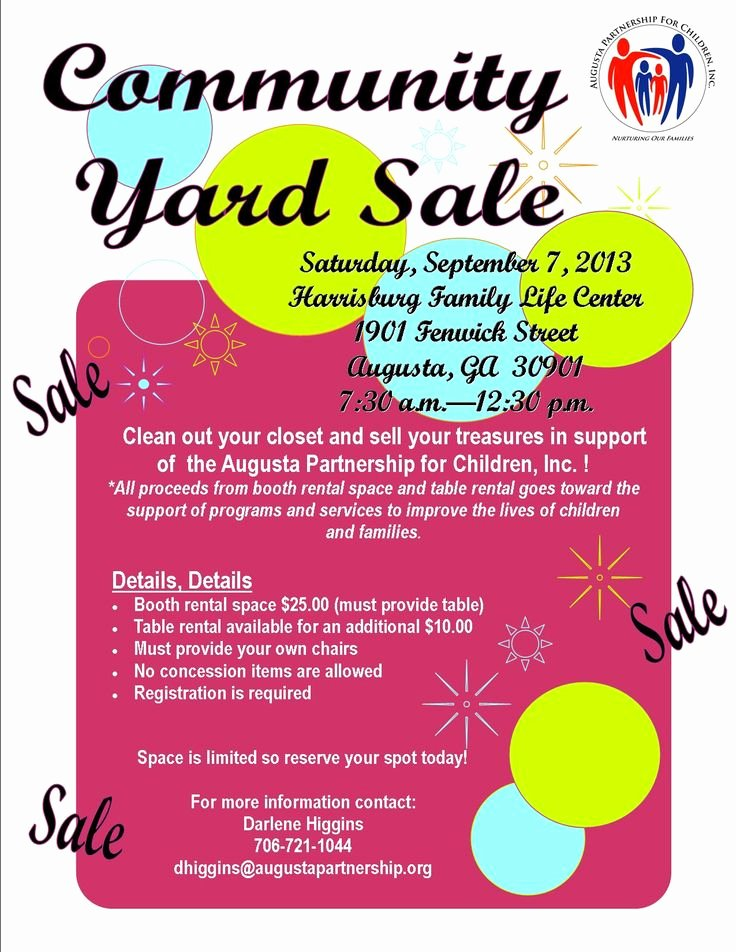 Yard Sale Flyer Template Luxury 19 Best Munity Yard Sale Images On Pinterest