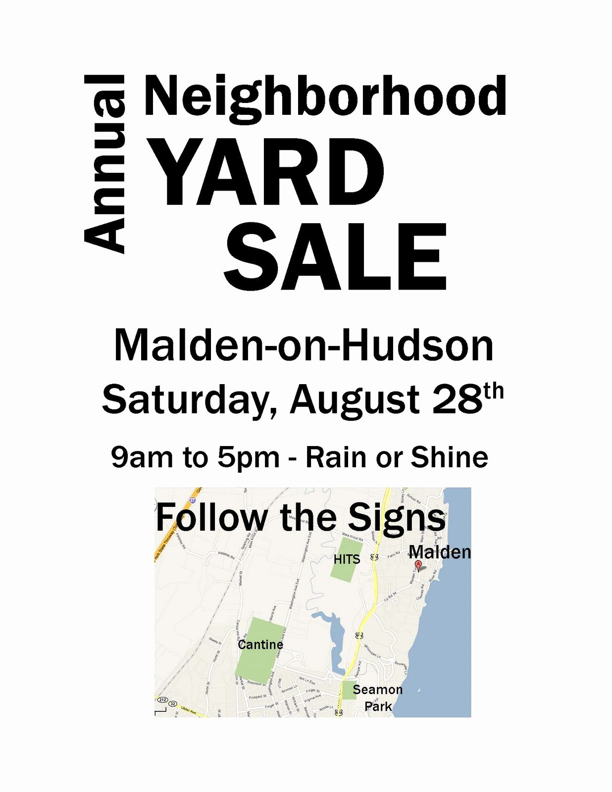 Yard Sale Flyer Template Luxury Malden Yard Sale