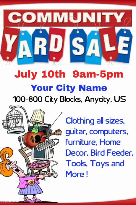 Yard Sale Flyer Template Luxury Munity Yard Sale Template