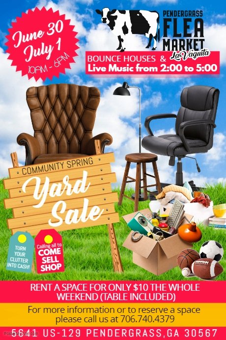 Yard Sale Flyer Template Luxury Yard Sale Flyer Template