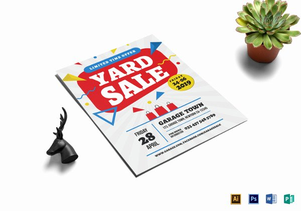 Yard Sale Flyer Template New 21 Best Yard Sale Flyer Templates & Psd Word Eps