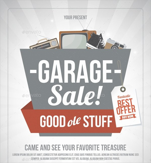 Yard Sale Flyer Template Unique 27 Yard Sale Flyer Templates