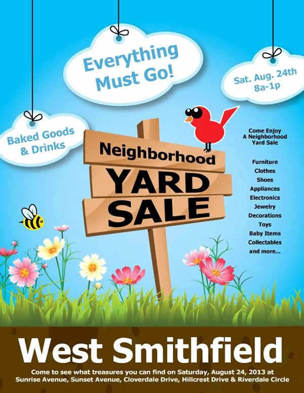 Yard Sale Flyer Template Unique Yard Sale Flyer Google Search