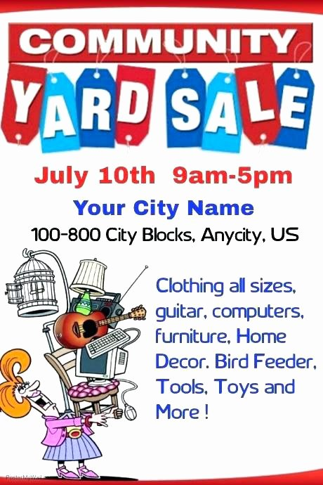 Yard Sale Flyer Template Unique Yard Sale Template Beautiful Munity Garage Flyer Free