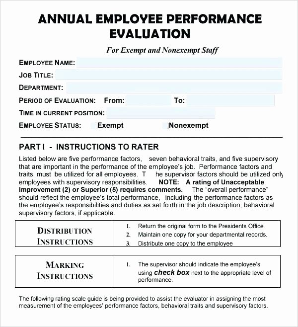 Year End Review Template Best Of Annual Employee Review Year End Performance Template Mid