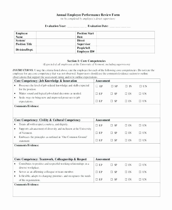 Year End Review Template Unique Annual Employee Review Year End Performance Template Mid