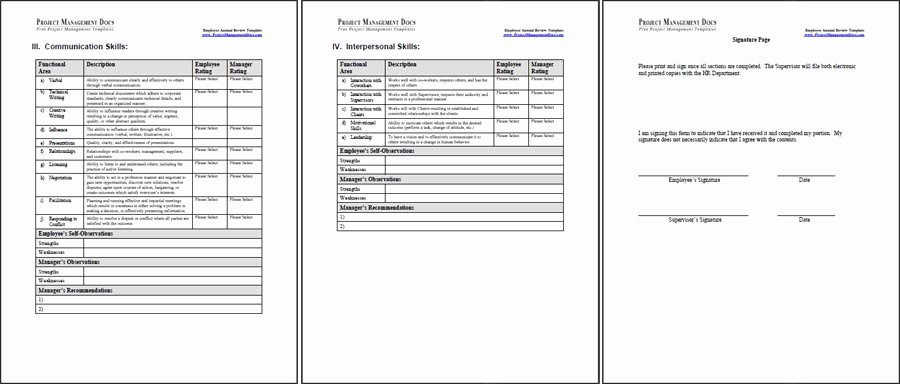 Year End Review Template Unique Employee Annual Review Template Project Management Docs