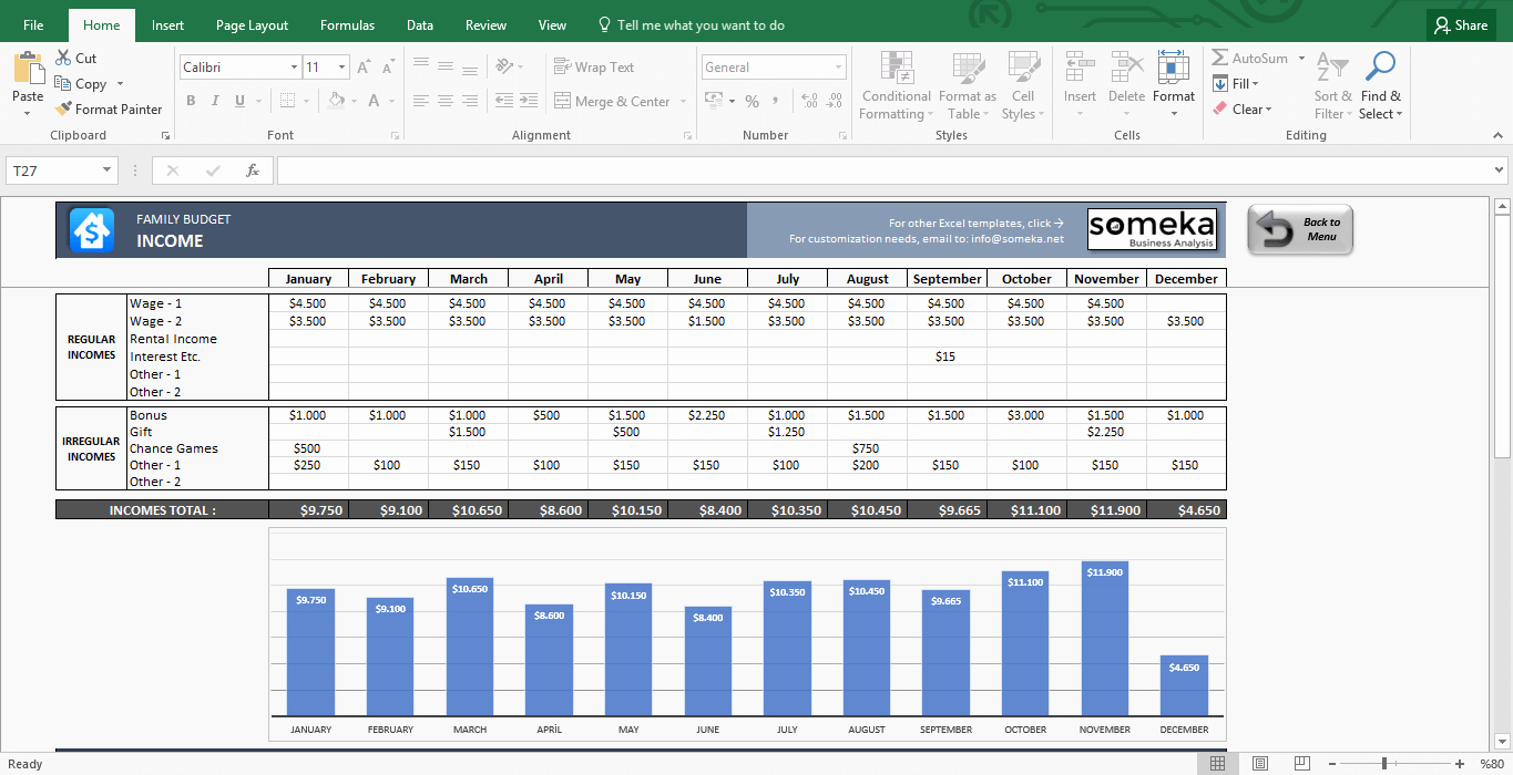 Yearly Budget Template Excel Free Fresh Family Bud Excel Bud Template for Household