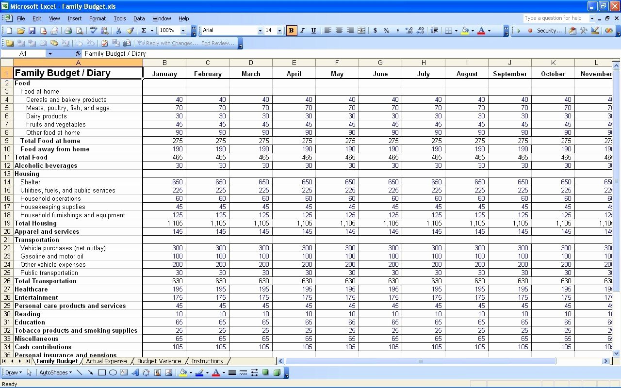 Yearly Budget Template Excel Free Luxury Yearly Household Bud Template