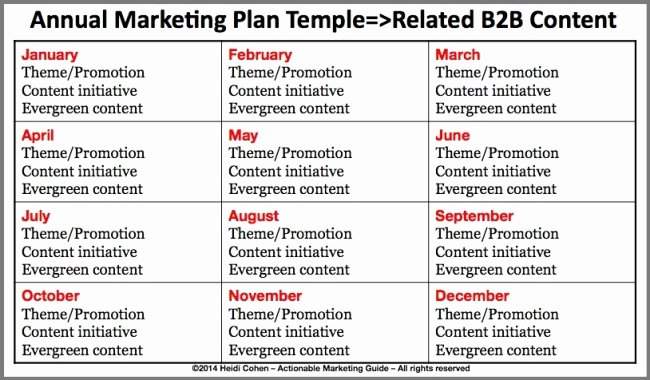 Yearly Marketing Plan Template Beautiful How to Make Your B2b Content Stand Out From the Crowd