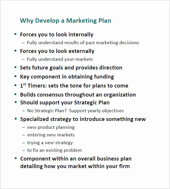 Yearly Marketing Plan Template Best Of Annual Marketing Plan Template – 10 Free Word Excel Pdf
