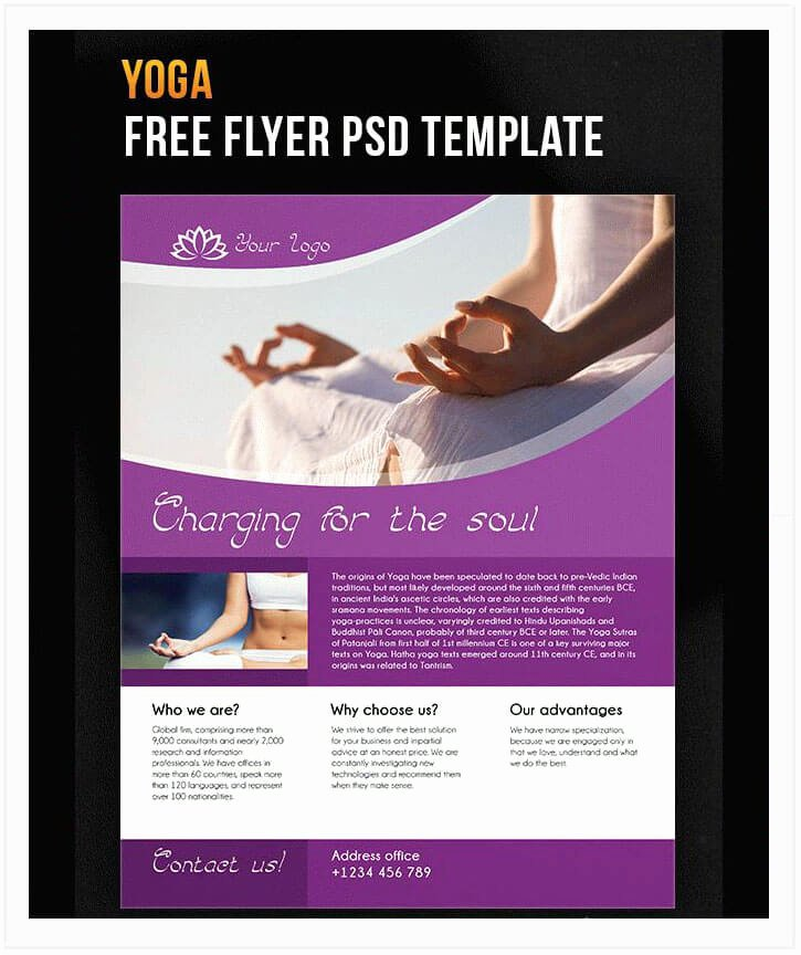Yoga Flyers Free Template Awesome 10 Free Yoga Flyer Templates In Psd Ai Eps Tech Trainee