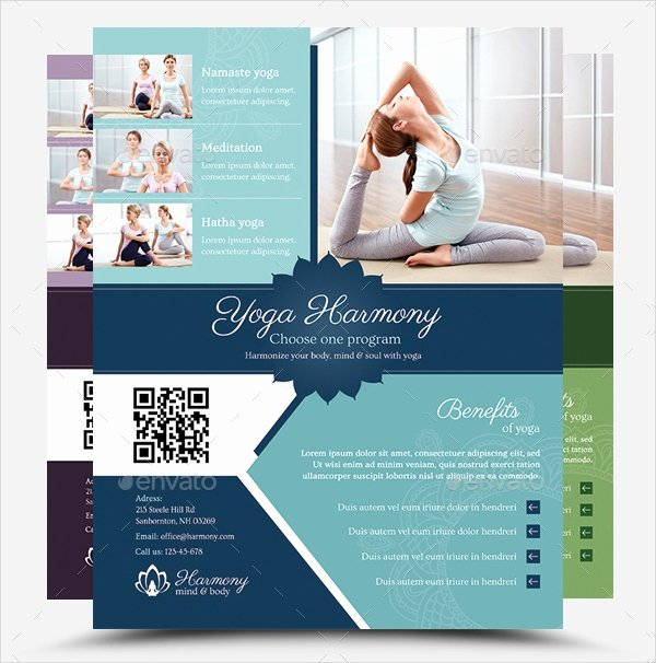 Yoga Flyers Free Template Awesome 18 Yoga Flyer Template Free Psd Ai Vector Eps format