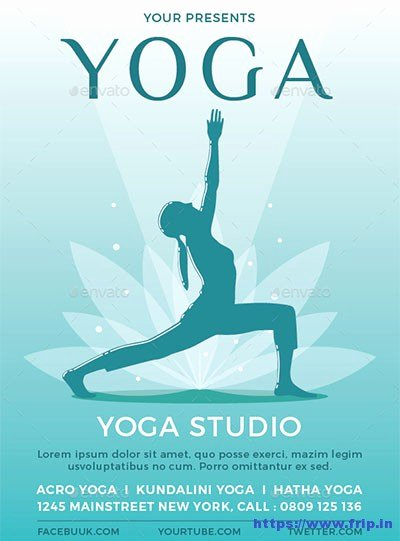 Yoga Flyers Free Template Awesome 20 Best Yoga Flyer Templates 2017