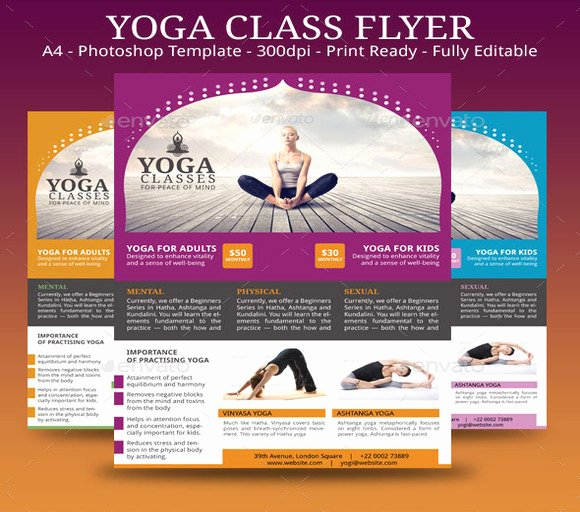 Yoga Flyers Free Template Beautiful 20 Beautiful Yoga Flyer Templates