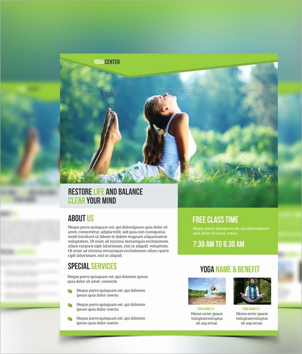 Yoga Flyers Free Template Beautiful 21 Yoga Flyer Templates