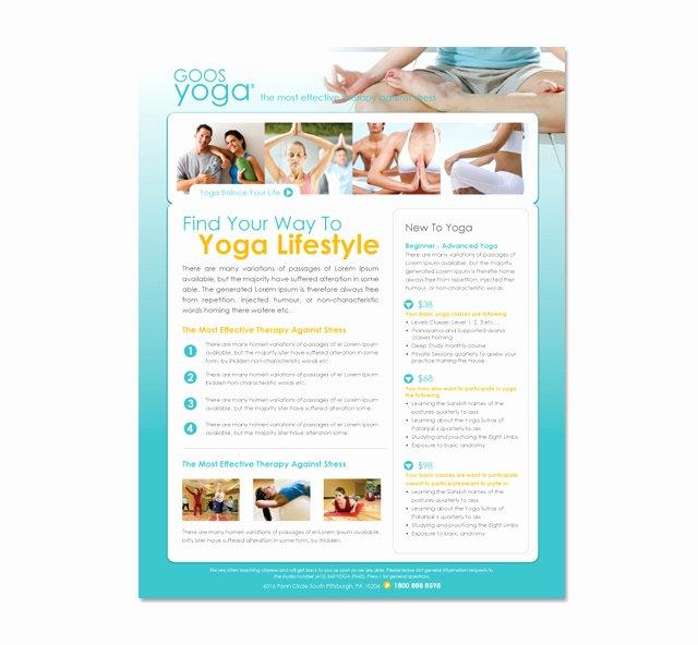 Yoga Flyers Free Template Beautiful Yoga Studio Flyer Template