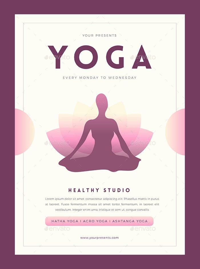 Yoga Flyers Free Template Best Of 23 Yoga Flyer Psd Templates Free & Premium Designyep