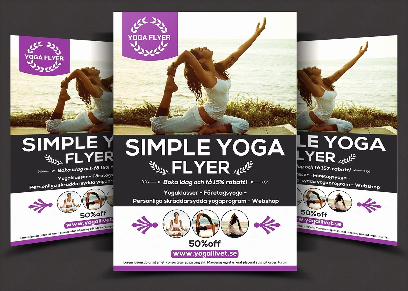 Yoga Flyers Free Template Best Of Simple Yoga Flyer Flyer Templates Creative Market