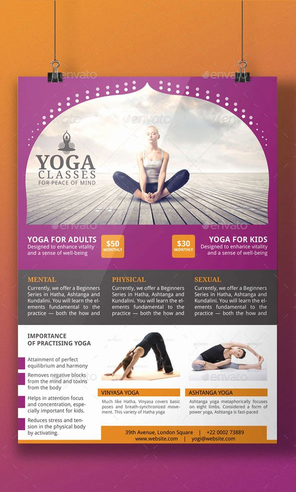 Yoga Flyers Free Template Elegant Yoga Flyer Template by Blogankids
