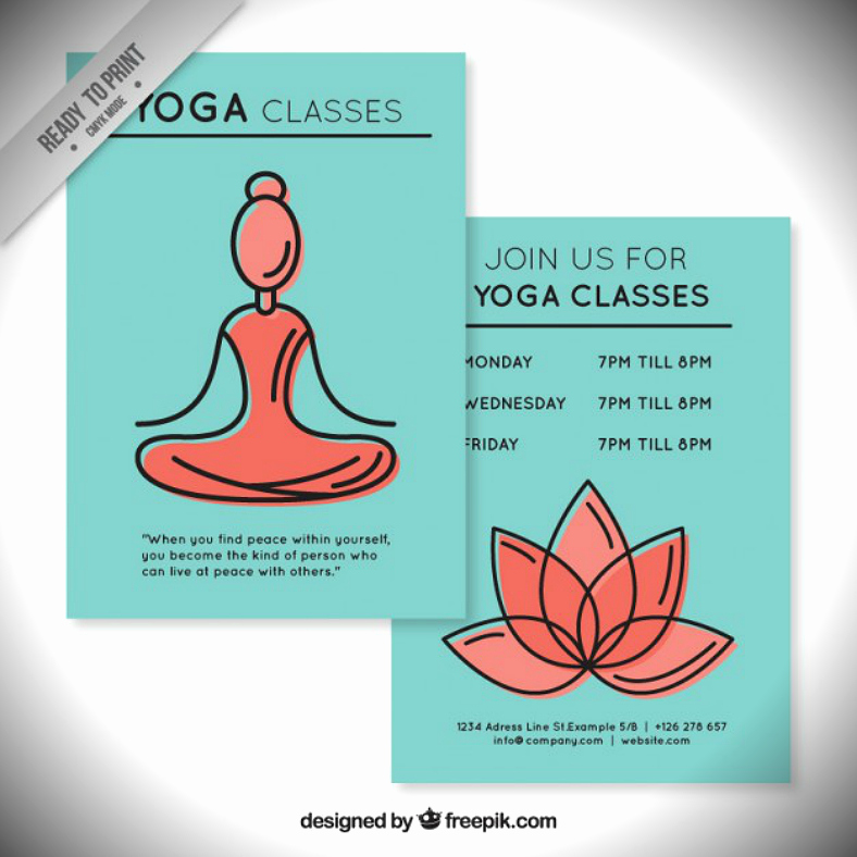 Yoga Flyers Free Template Fresh 16 Motivational Yoga Flyer Designs Word Psd Ai Eps