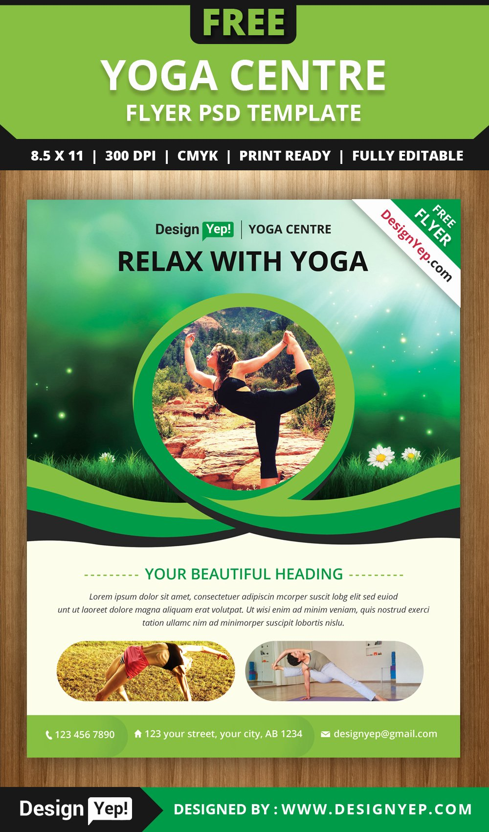 Yoga Flyers Free Template Fresh Free Yoga Flyer Psd Template for Download On Behance