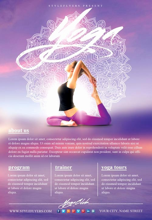 Yoga Flyers Free Template Fresh Yoga Gym Free Flyer Template Download Flyer Templates