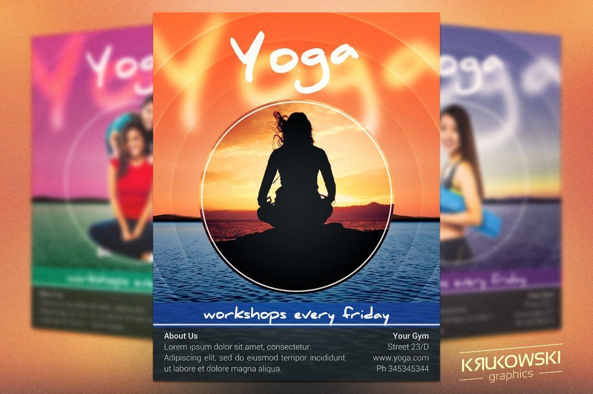 Yoga Flyers Free Template Fresh Yoga Workshops Flyer Template Flyer Templates Creative
