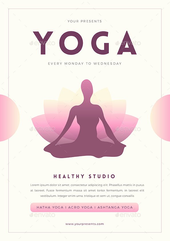 Yoga Flyers Free Template Inspirational Yoga Flyer by Guuver
