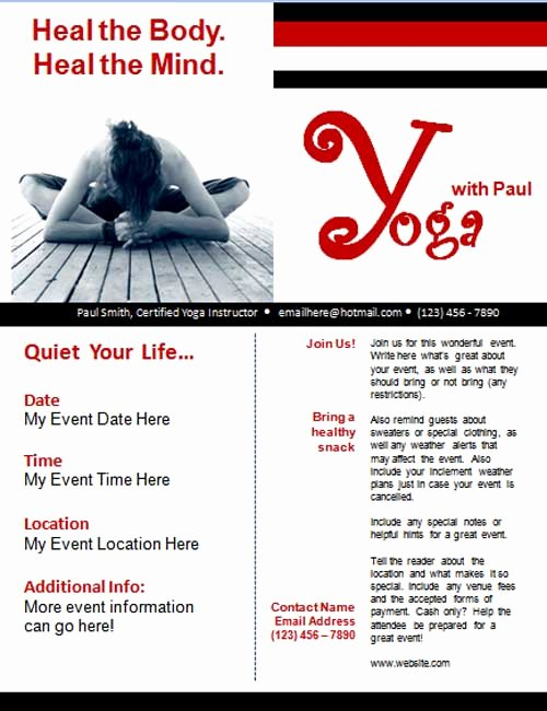 Yoga Flyers Free Template Lovely 25 Free Business Flyer Templates to Suit Your Business